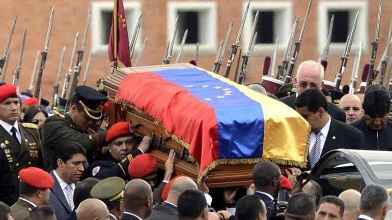 El sepelio del ex presidente bolivariano