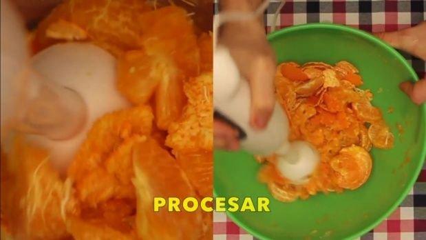 procesar mandarinas