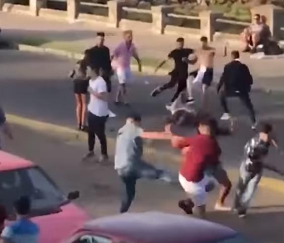 Batalla campal a la salida de un boliche en Uruguay