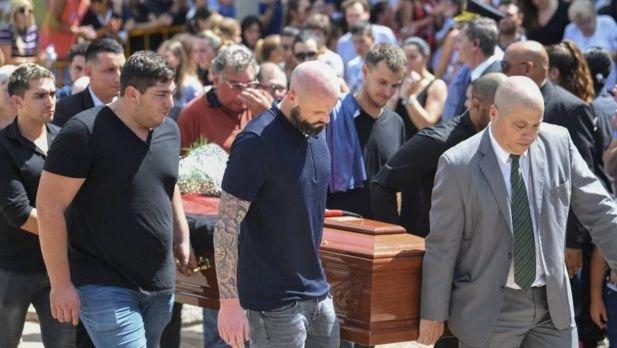 Los restos de Emiliano Sala fueron despedidos en su pueblo natal, Progreso.