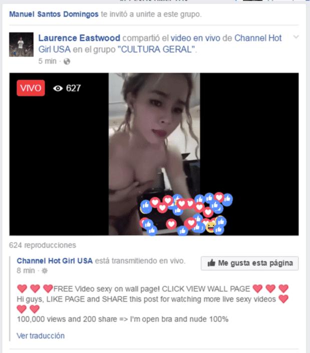 Paginas porno de facebook Porno Erotismo Y Desnudos En Vivo Que Facebook No Puede Censurar Big Bang News