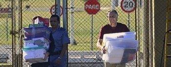 Después de estar tres meses preso, Cristóbal López salió de la cárcel de Ezeiza y quedó en libertad
