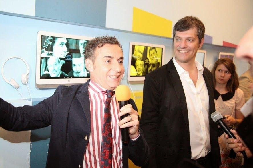 majul y Pergolini en la inauguración del museo.