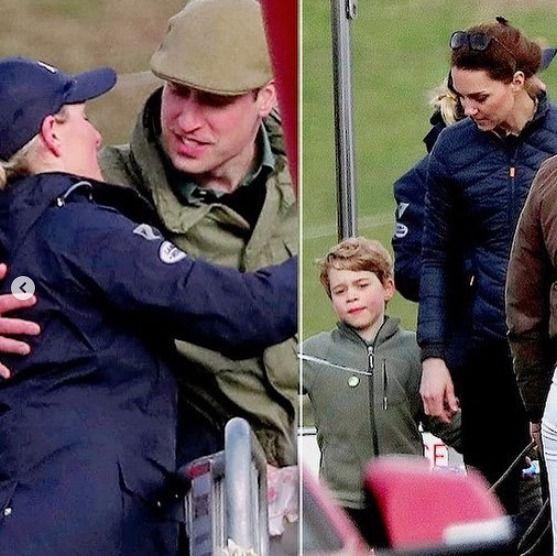"""Fotos del operativo """"acá no pasó nada"""" de Kate Middleton y el príncipe William."""
