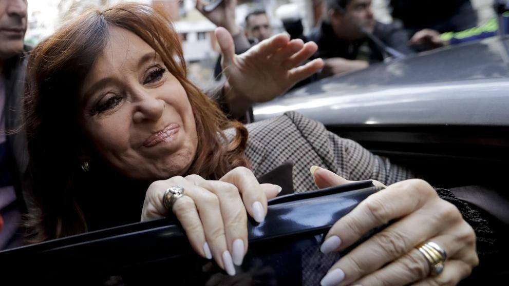 La ex presidenta y actual senadora nacional por la provincia de Buenos Aires.