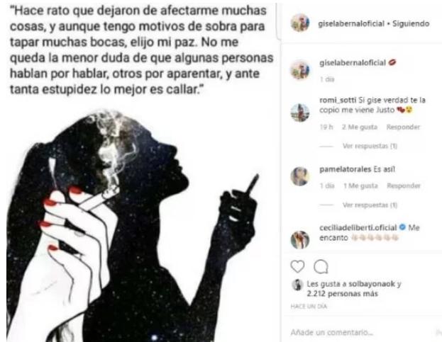 Las palabras de Bernal en Instagram.
