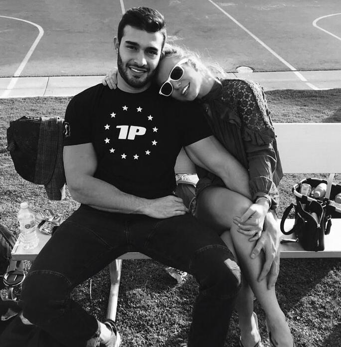 Britney y su novio, Sam Asghari.