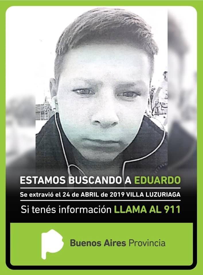 Buscan a un niño de 13 años desaparecido en La Matanza