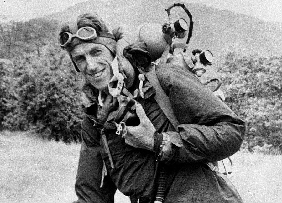Edmund Hillary, el primer hombre en llegar a la cumbre del Everest.
