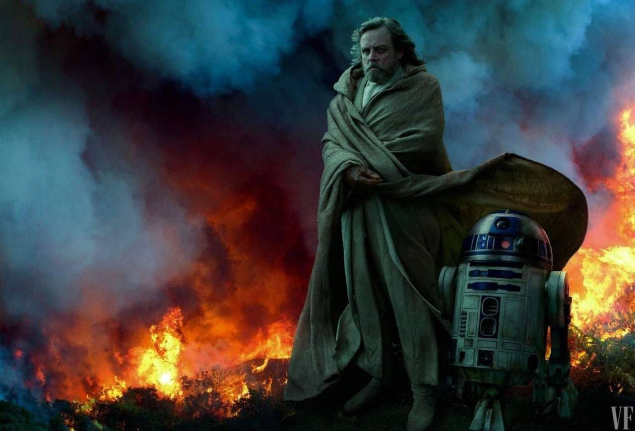 Mark Hamill como Luke Skywalker en una de las fotografías de Leibovitz.
