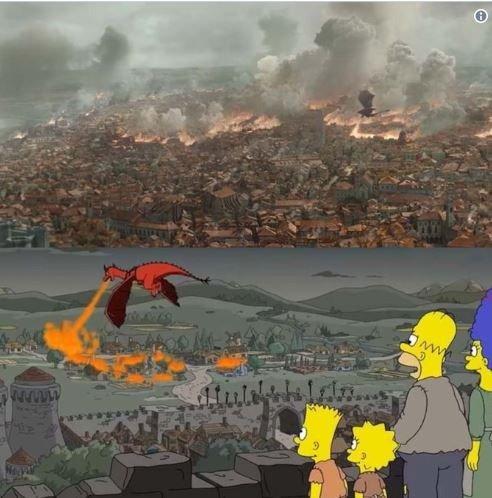 """Los Simpson predijeron el penúltimo capítulo de """"Game of Thrones"""" en 2017: sus aciertos"""