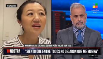 """Karina Gao, tras superar el Covid: """"Tengo amigas que todavía no se quieren vacunar"""""""