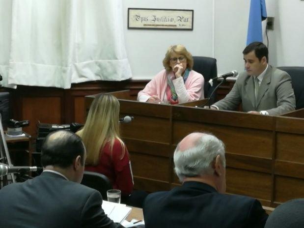 Sol, la ex amiga de Nahir, durante su declaración en el juicio.