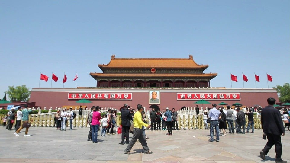 La plaza Tiananmen, hoy.