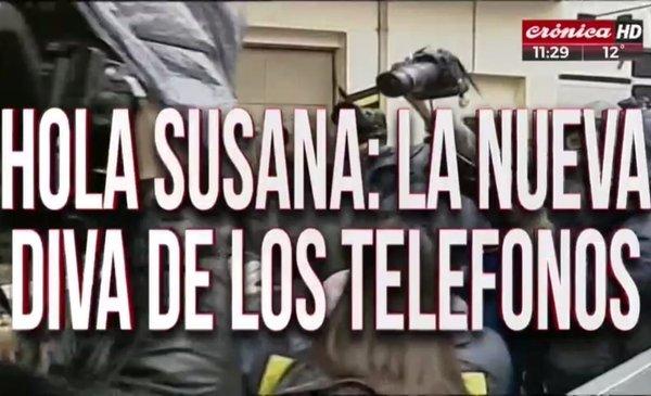 """""""Hola Susana, te estamos llamando"""": el brillante videoclip en vivo de CronicaTV tras la detencion de Susana Martinengo"""