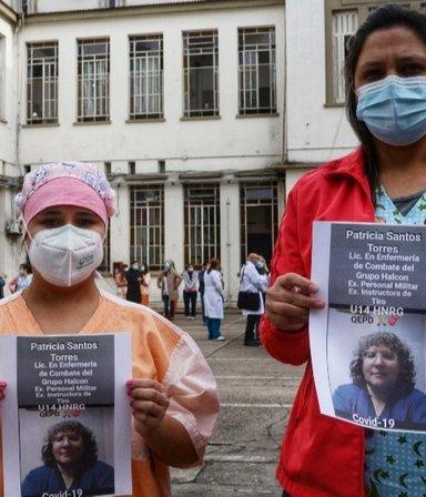 Era enfermera, tenía diabetes e hipertensión, se contagió de COVID y murió: denuncian que le negaron la licencia