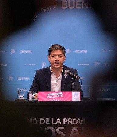 """Kicillof anunció 1,5 millones de turnos para vacunar """"a toda la población prioritaria"""""""