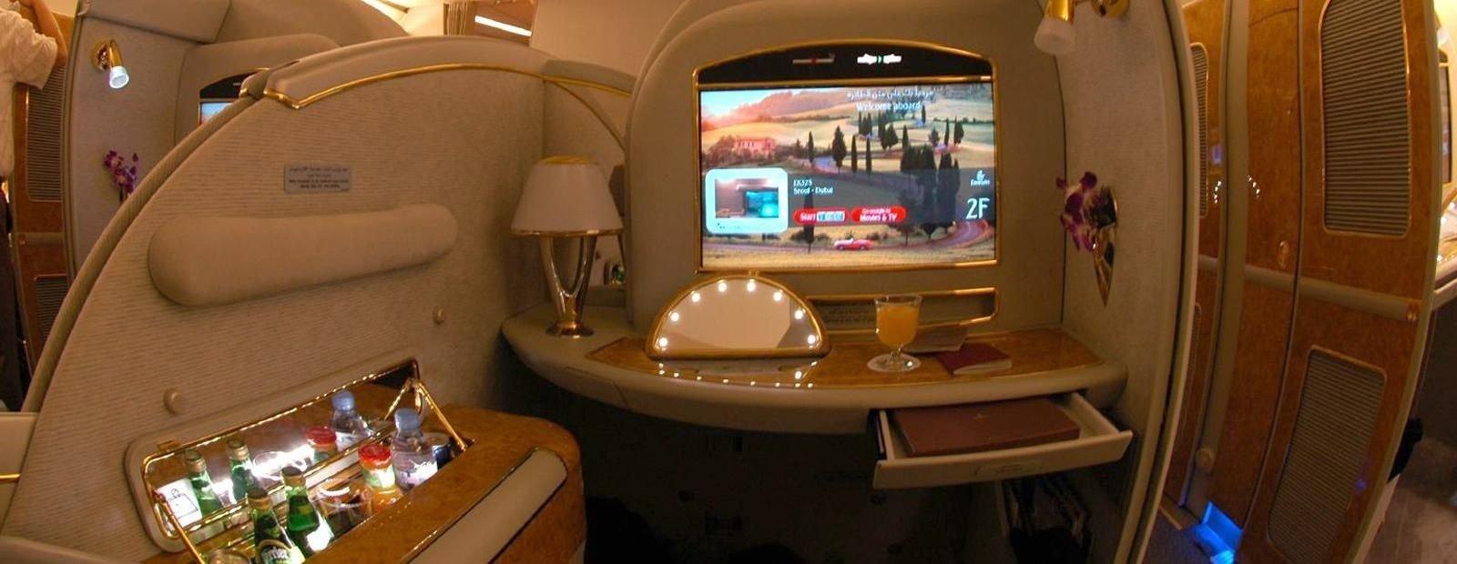 La primera clase de Emirates.
