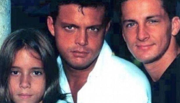 Luis Miguel junto a sus dos hermanos: Sergio y Alex.