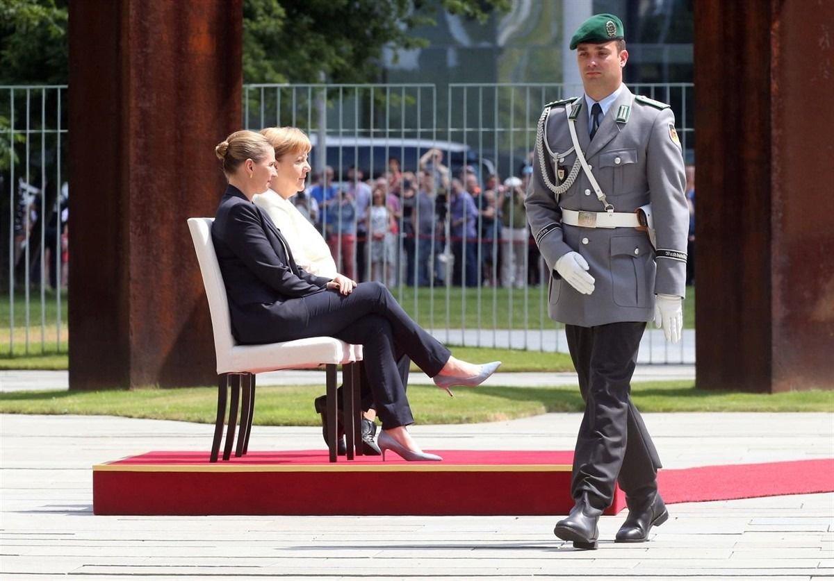 Este jueves Merkel recibió a la primera ministra de Dinamarca,Mette Frederiksen.