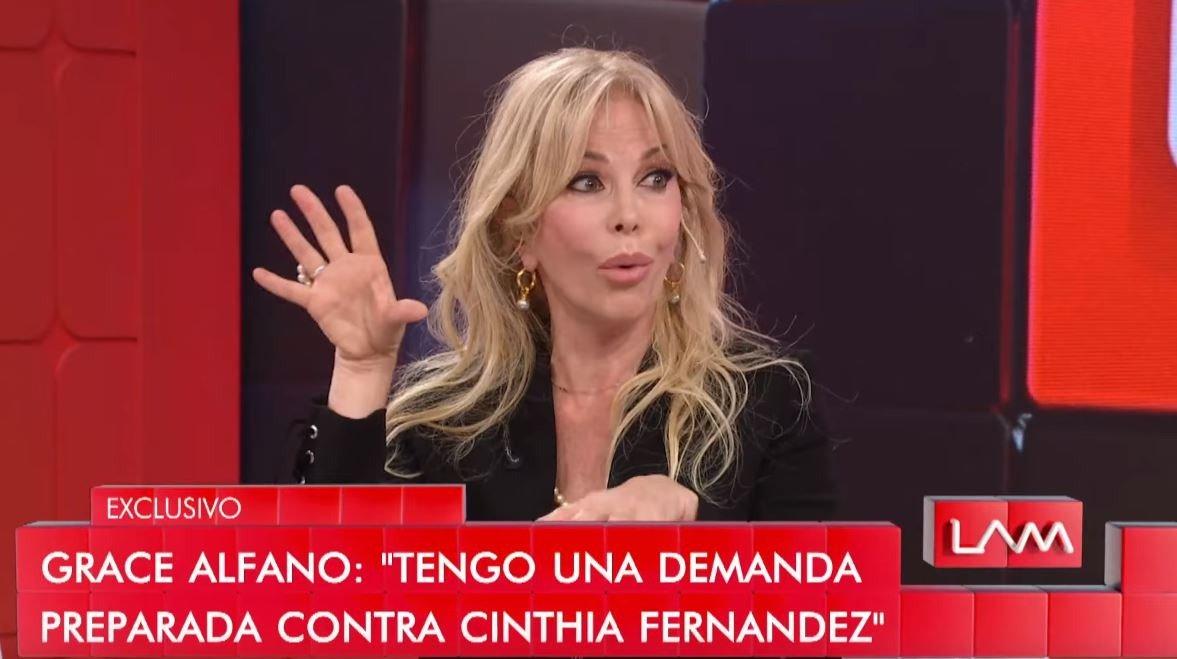 El video con el que Graciela Alfano se burló de Cinthia Fernández