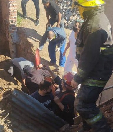 Se derrumbó una obra de refacción en un colegio de Zárate y un obrero quedó atrapado