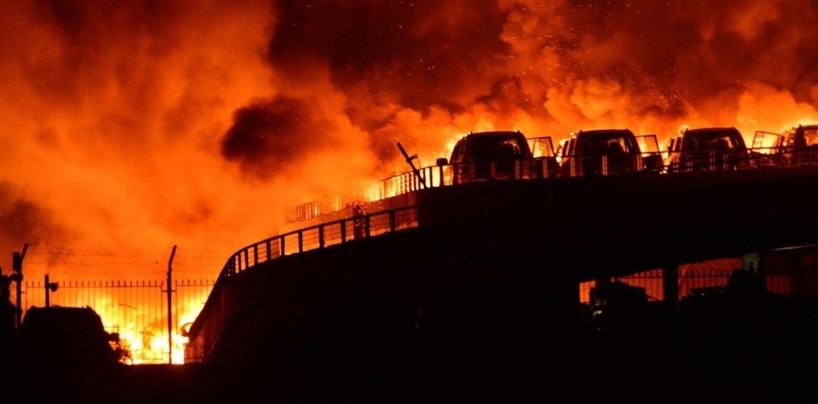 Postales apocalípticas en Tianjin.