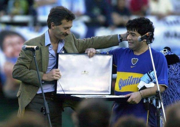 Macri y Maradona