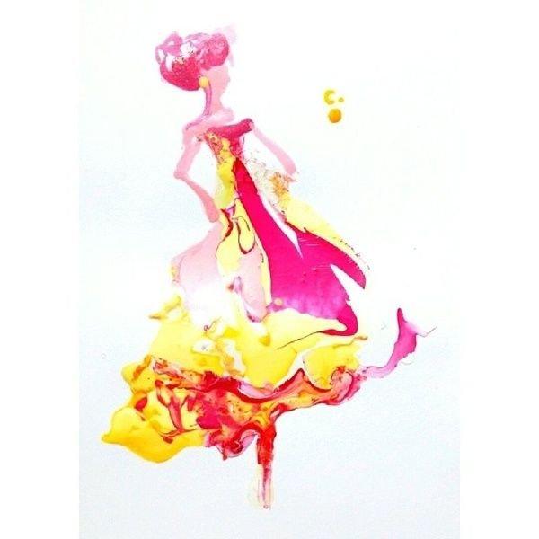 Rojo pasión y amarillo, belleza.
