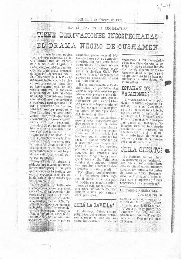 Nota de Osvaldo Bayer en La Chispa