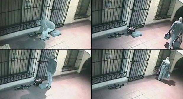 Las cámaras que muestran cómo López descargaba los bolsos en el convento.