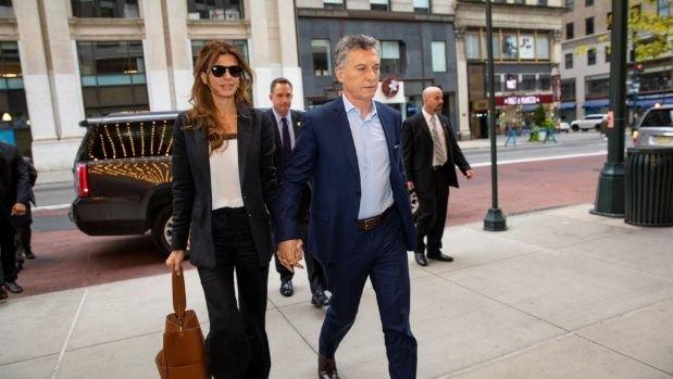 Juliana Awada y Mauricio Macri permanecerán hasta el miércoles en Nueva York.