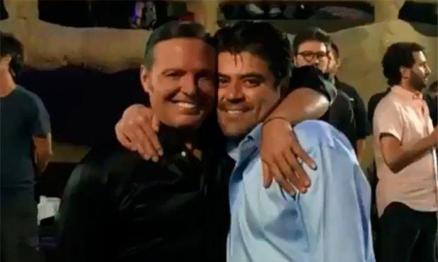 Luis Miguel junto a su amigo Miguel Alemán Magani.