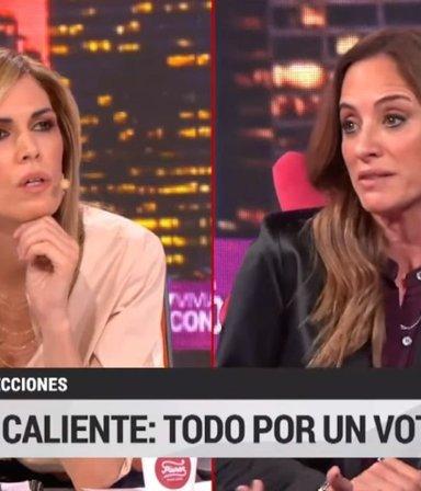 """Tolosa Paz interpeló en vivo a Canosa por la """"operación afiche"""": """"¿No te relamés en el dolor ajeno?"""""""