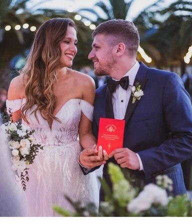Bella y radiante: los secretos del vestido de novia de Barbie Vélez en su boda con Lucas Rodríguez