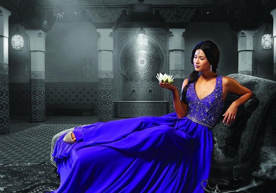 Yasmine, una novia azul.