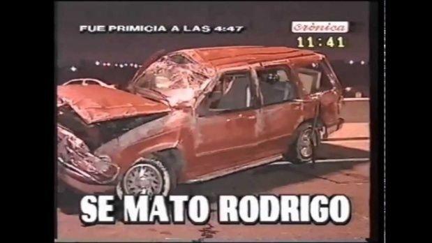 Las cámaras llegaron rápido al lugar del accidente en el que murió Rodrigo.