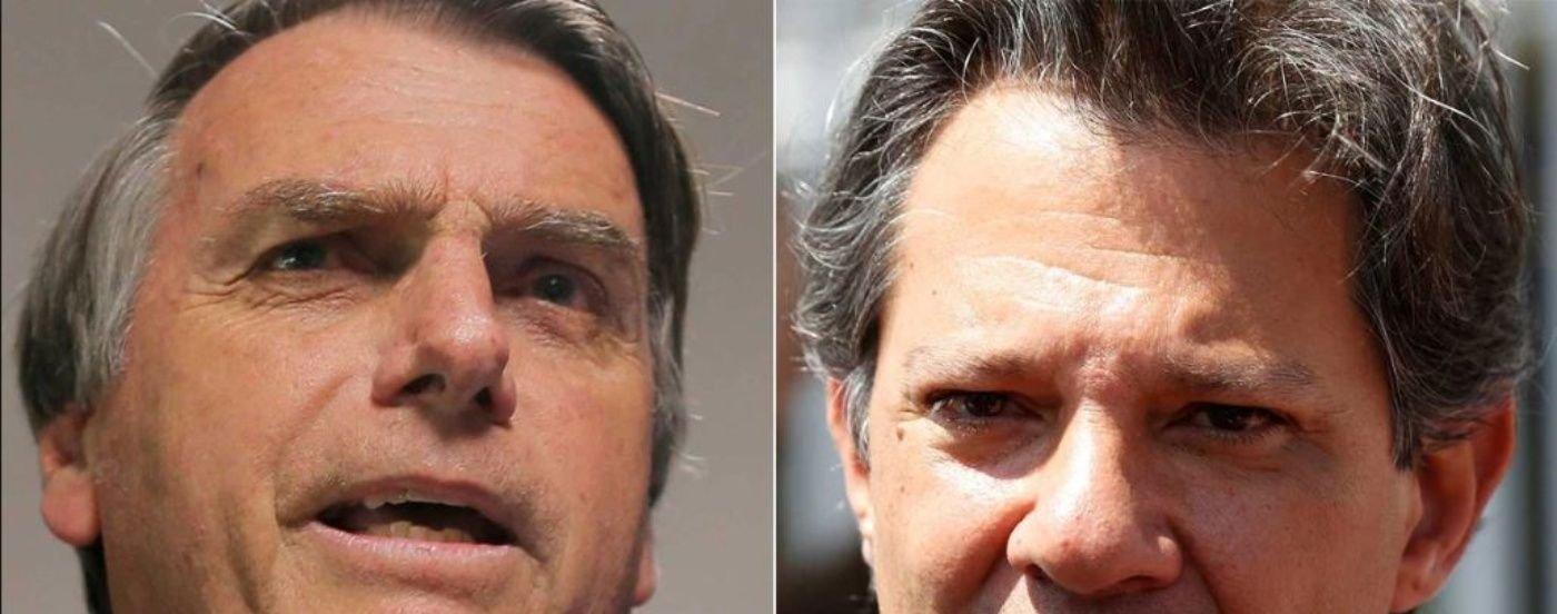 Día crucial en Brasil: Bolsonaro y Haddad, en la pelea por la presidencia