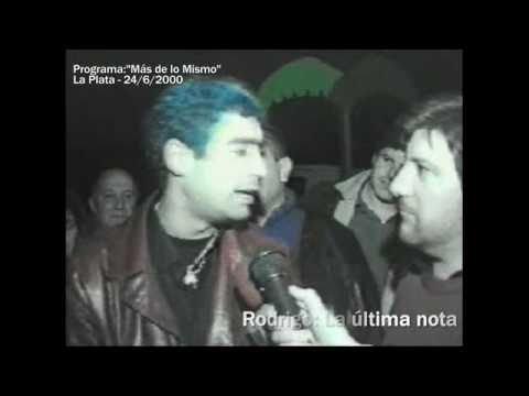 Rodrigo en su última entrevista antes de subirse a la camioneta.