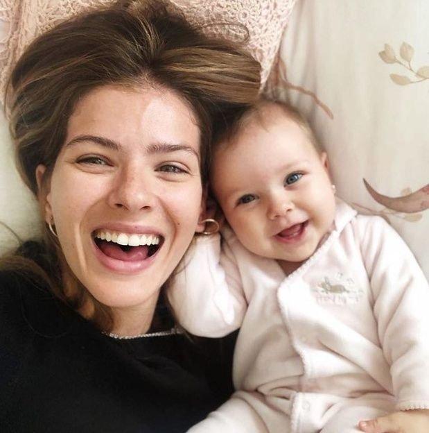 Magnolia, la hija de la 'China' Suárez y Vicuña, nació el 7 de febrero.