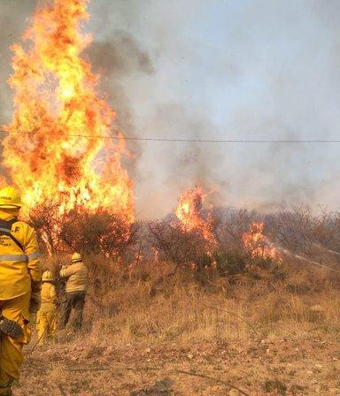 Los incendios en el norte de Córdoba no dan tregua y ya son tres las víctimas fatales
