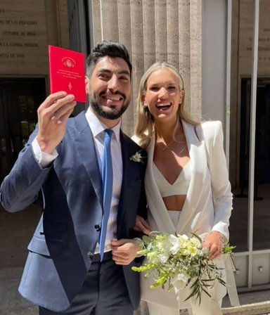 """¡Vivan los novios! Facundo Moyano se casó con Eva Bargiela: """"Todo es muy emocionante y hermoso"""""""