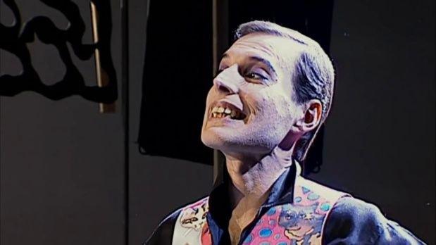 Freddie Mercury, seis meses antes de morir. Tenía 45 años.