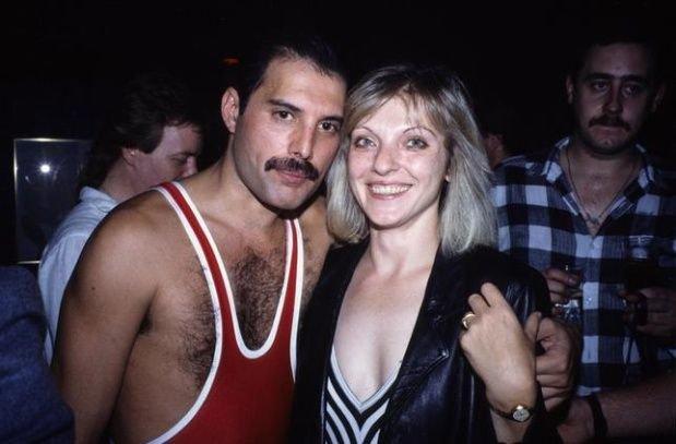Freddy junto a Mary, su primera novia: fue su gran compañera.