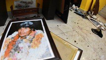 Saquearon por la madrugada la casa de Evo Morales en Cochabamba: así quedó