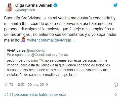 Escándalo policial de Karina Jelinek con un fan que no quiso pagarle